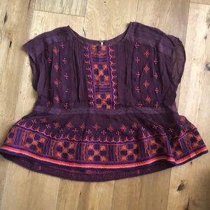 Free people patterned top
